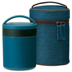 Skater - Japanese Style Thermal Delica Pot with Case (Blue)