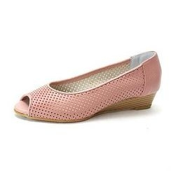 MODELSIS - Open-Toe Perforated Wedge Heel
