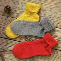 Socka - 純棉麻花中筒襪