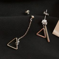 Calypso - Non-matching Triangle Drop Earrings