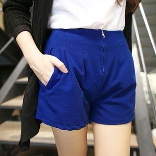 Tokyo Fashion - Zip-Front Pinktuck Shorts