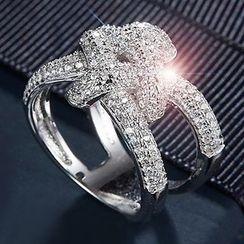 Nanazi Jewelry - Rhinestone Knot Ring