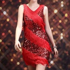AIXI - Sequined Latin Dance Dress