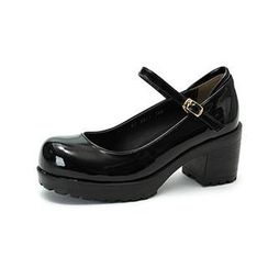 MODELSIS - Platform Heel Mary Jane Pumps