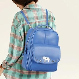 TAIPEI STAR - Horse-Accent Twist-Lock Backpack