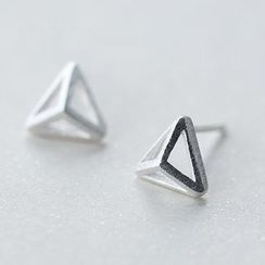 A'ROCH - 925 Sterling Silver Triangle Stud Earrings