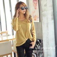 REDOPIN - V-Neck Sweater
