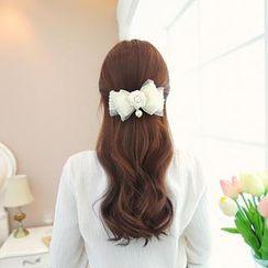 soo n soo - Flower Ribbon Hair Pin