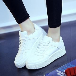 Solejoy - Lace-Up Platform Sneakers