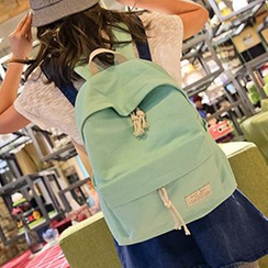I.O.U - Plain Canvas Backpack
