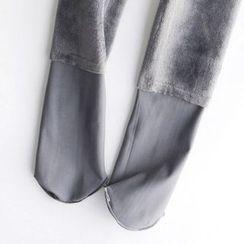 LA SHOP - Fleece Lined Plain Leggings