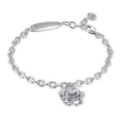Bling Bling - Bling Bling Lovely Rose Bracelet - Platinum Plated 925 Silver