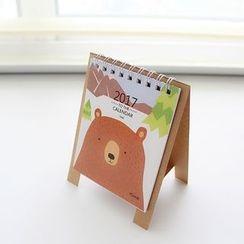 CatShow - Bear Print 2017 Desk Calendar (S)