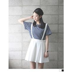 VANILLA SECOND - A-Line Skirt with Suspenders