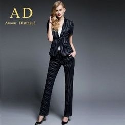 Aision - Striped Blazer / Trousers / Pencil Skirt