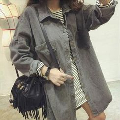 QZ Lady - Oversized Denim Shirt