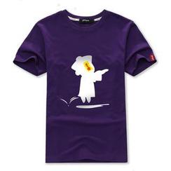 Porspor - Chinese Zombie Print T-Shirt