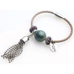 MIPENNA - 真皮钧窑珠手链