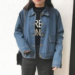 MePanda - Washed Denim Jacket
