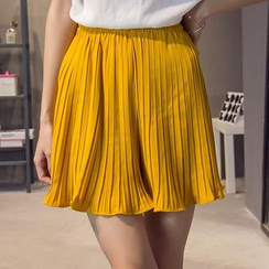 HazyDazy - 風琴褶雪紡裙褲