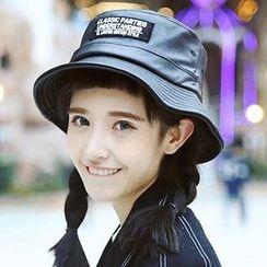 Hats 'n' Tales - Faux Leather Applique Bucket Hat