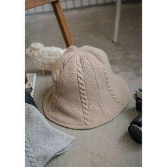 GOROKE - Wool Blend Cable-Knit Bucket Hat