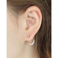 soo n soo - Filigree Cage Stud Earrings