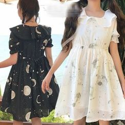 GOGO Girl - Short-Sleeve Printed A-line Dress
