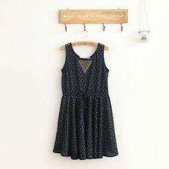 11.STREET - Skull Printed Studded Tank Dress
