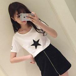 微米家 - 星星印花T恤