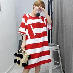 Champi - 孕妇条纹T恤连衣裙