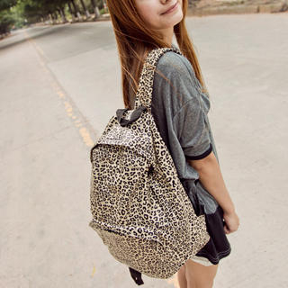 Leopard-Print Backpack