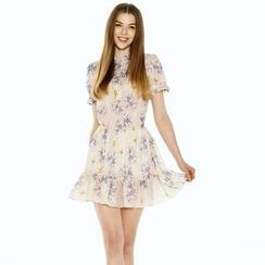 O.SA - Floral Ruffled Tiered Dress
