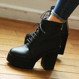 PLATFORM CHUNKY-HEEL ANKLE BOOTS - VIVIER | YESSTYLE on The Hunt