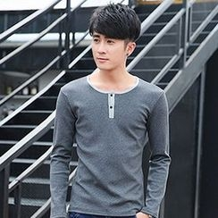 Seahound - Long-Sleeve Buttoned T-Shirt