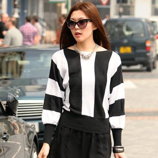 59 Seconds - Striped Knit Top
