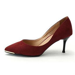 MODELSIS - Pointy-Toe Faux-Suede Pumps