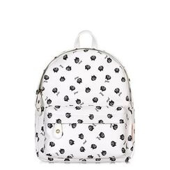SUPER LOVER - Cat Print Cotton Backpack