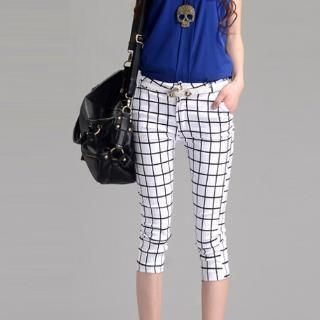 On The Block - Plaid Cropped Pants