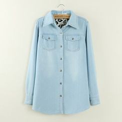 Tangi - Fleece Lined Denim Shirt