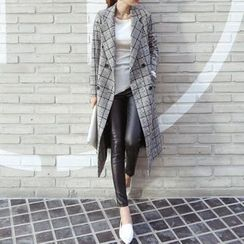 Aurora - Plaid Button Coat