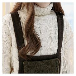 Sechuna - Turtle-Neck Cable-Knit Top