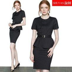 Aision - 套装 / 条纹上衣 / 短裙