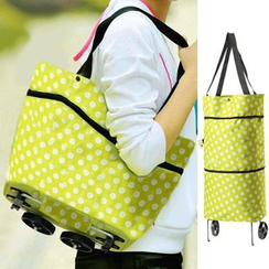 Evorest Bags - Print Shopper Bag with Wheels