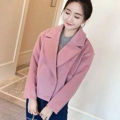 Aigan - 纯色按扣夹克