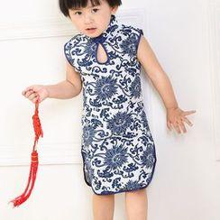 SEE SAW - Sleeveless Floral Cheongsam