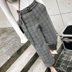 Jack Grace - 扣带短款格子裤