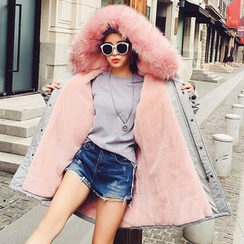Ashlee - Faux Fur Trim Hooded Parka