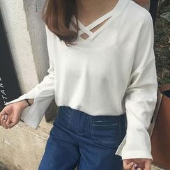 Rollis - Cross Strap Long Sleeve T-Shirt