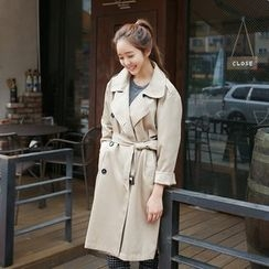 Envy Look - Double-Breasted Trench Coat with Belt